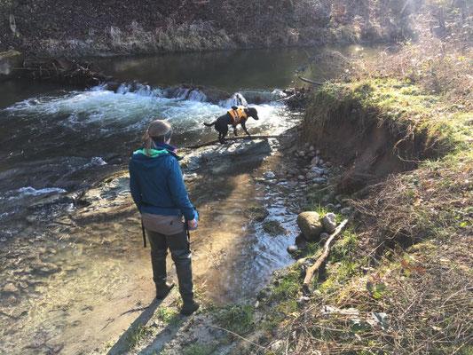 Jelena mit Eske von Artenspürhunde Schweiz.