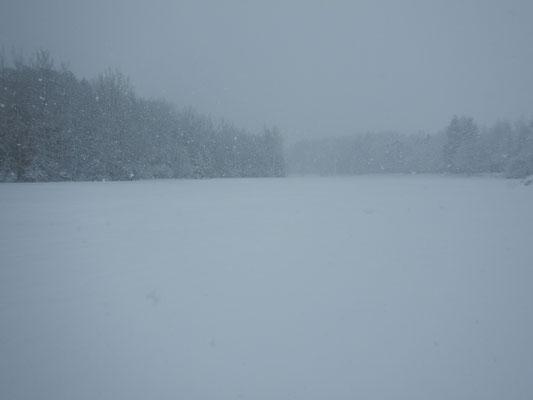Die Sicht ließ bei Schneegestöber häufig zu wünschen übrig.