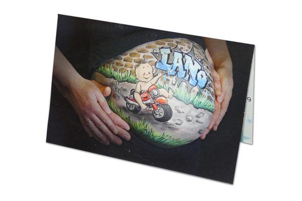 Bellypaint geboortekaartje