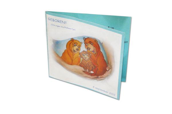 Geboortekaartje met foto van bellypaint