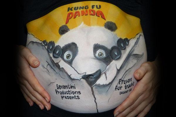 Bellypaint gebaseerd op de film Kungfu panda
