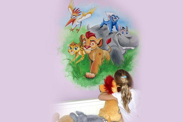 Muurschildering voor op kinderkamer