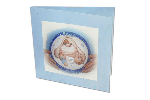 Persoonlijk geboortekaartje met eigen buikschildering