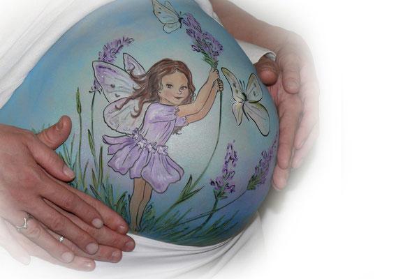 Een lente elfje in de bellypaint