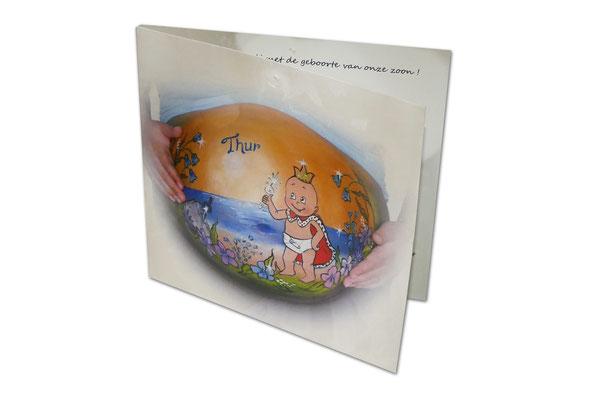 Buikbeschildering laten afdrukken op geboortekaartjes
