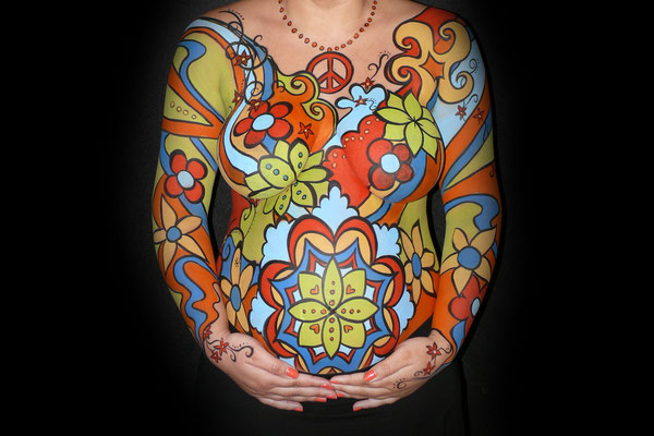 Abstracte bodypaint