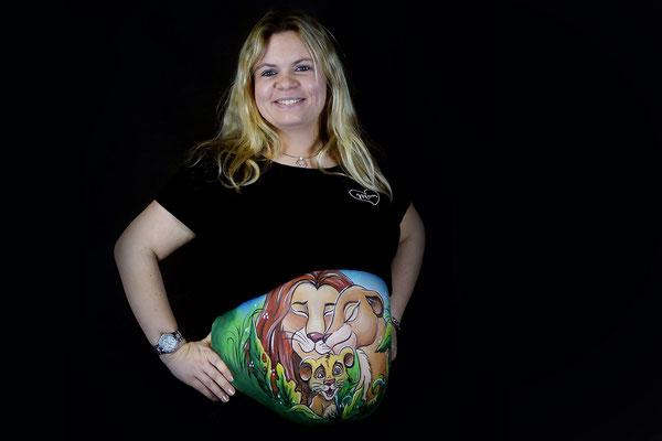 Bellypaint Lion King