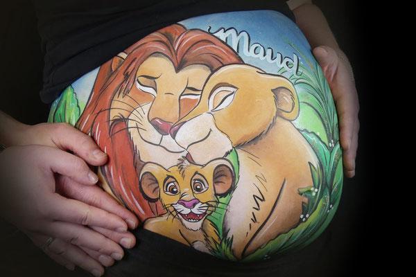 De leeuwenkoning, Lion King, als bellypaint