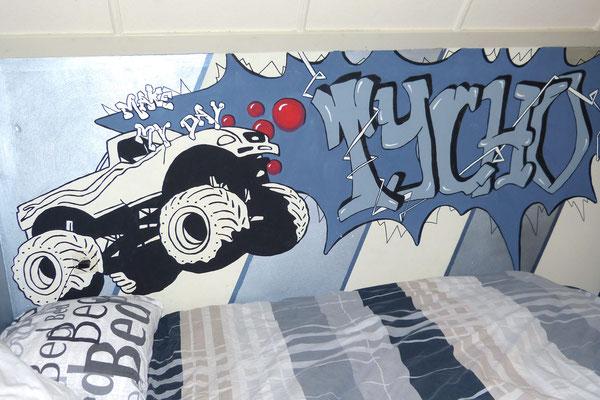 Muurschildering voor jongenskamer