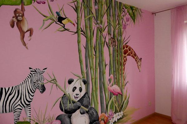 Een bamboe-bosje op een meisjeskamer
