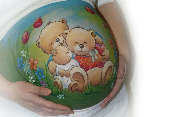 Een lief beren gezinnetje