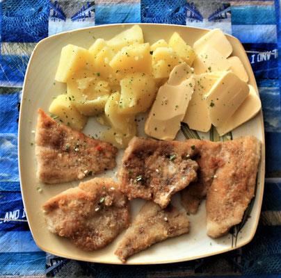 23.05.2020 Seelachs- und Pangasiusfilet mit Kartoffeln und Butter