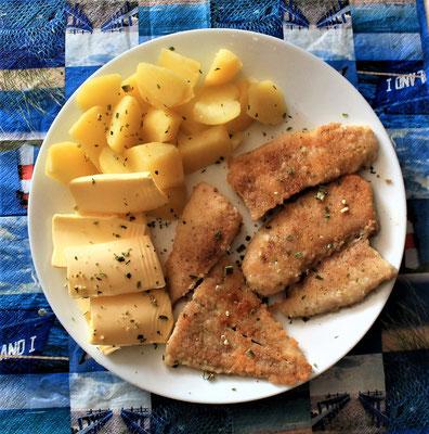 13.05.2020 Pangasiusfilet mit Kartoffeln und Butter