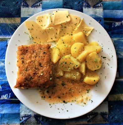 21.07.2020 Kräuterfisch a la Bordelaise mit Kartoffeln und Butter