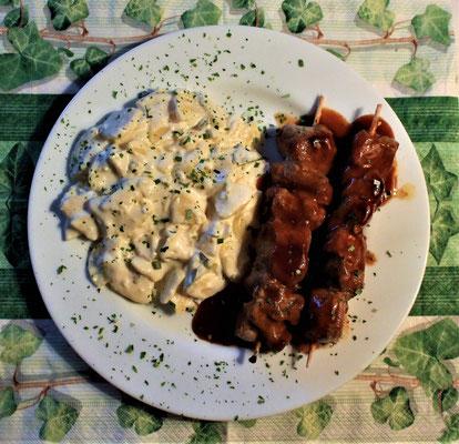 30.01.2020 Schaschlik mit Kartoffelsalat