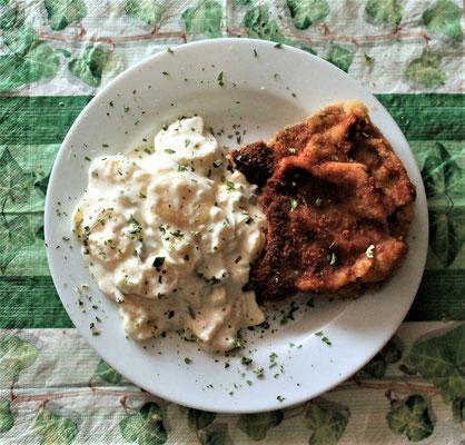 26.03.2020 Schweinekotelette mit Kartoffelsalat
