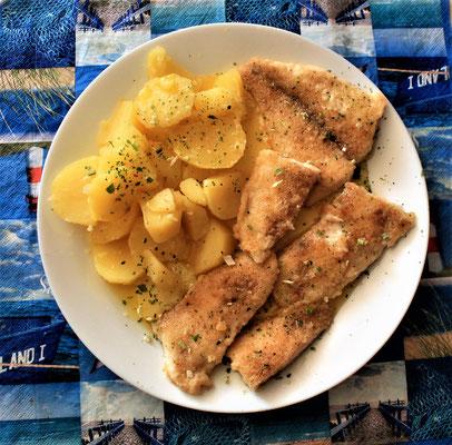 02.06.2020 Pangasiusfilet mit Kartoffeln und Buttersoße