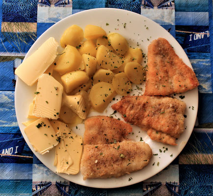 07.04.2020 Pangasiusfilet mit Kartoffeln und Butter