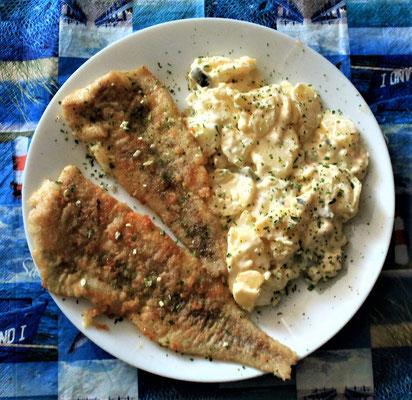 11.06.2020 Seelachsfilet gebraten mit Kartoffelsalat