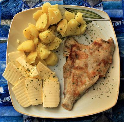 11.07.2020 gebratene Scholle mit Kartoffeln und Butter