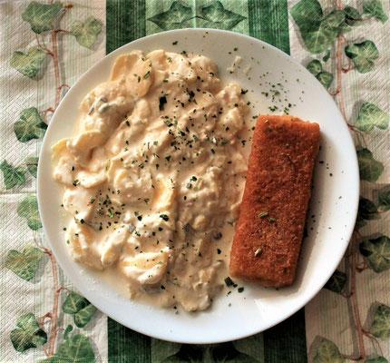 14.02.2020 Knusperfisch mit Kartoffelsalat