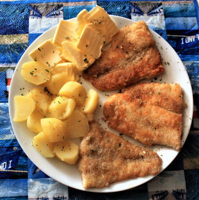 18.05.2020 Pangasiusfilet mit Kartoffeln und Butter