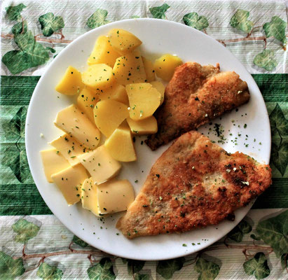 07.02.2020 Schollenfilet mit Kartoffeln und Butter