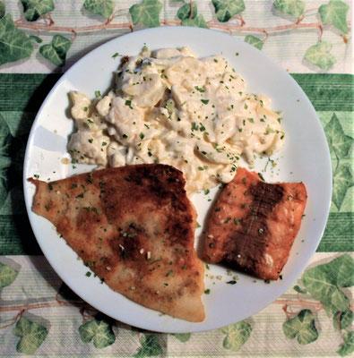 12.02.2020 Schollenfilet, Lachs mit Kartoffelsalat