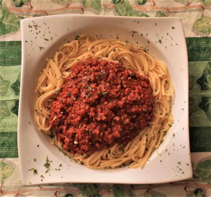 23.03.2020 Spaghetti mit Sauce Bolognaise