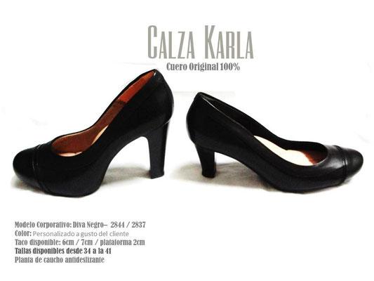 Calzado Karla | zapato con plataforma y taco