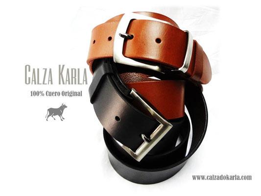cinturon de cuero ron & negro