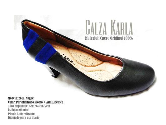Calzado Karla | zapato de cuero azul