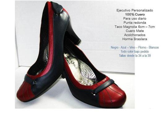 zapatos rojo de cuero