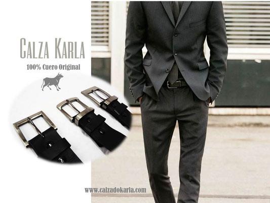 cinturon de cuero formal