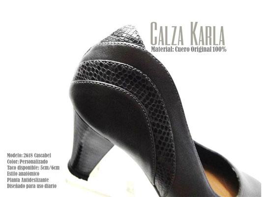 zapato de cuero karla | estilo anatomico | para uso diario