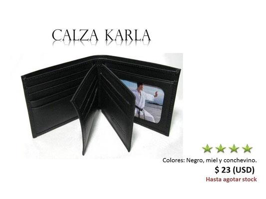 cartera de cuero negra
