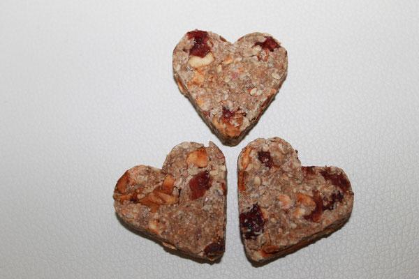 Apfel - Vollkorn Herzen