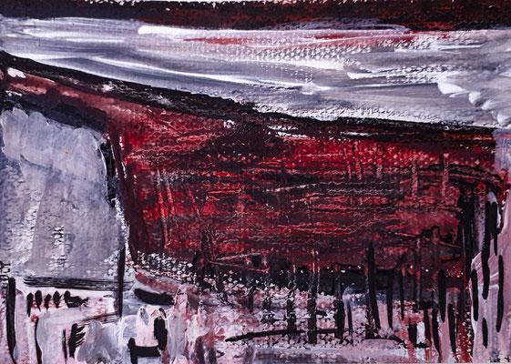 Ohne Titel, 2017, 11,8x 16,8 cm, Acryl auf Papier
