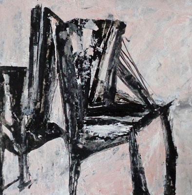Abstrakt, 2015, 20,5 x 21 cm, Tusche und Acryl auf Karton