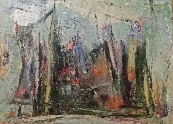Abstrakt, 2015, 60 x 80 cm, Öl auf Leinwand