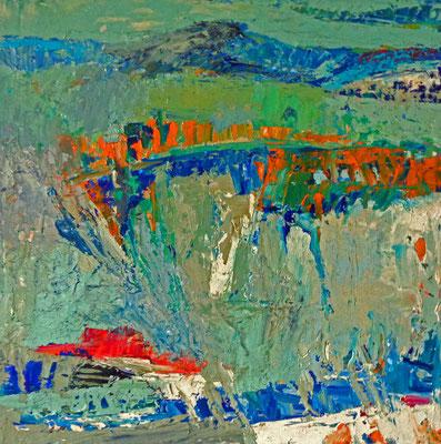 Landschaft, 2016, 20 x 30 cm, Öl auf Leinwand,