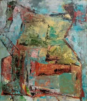 Torso, 2017, 50 x 43,7 cm, Oel auf Karton