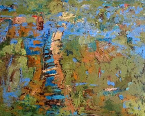 Landschaft, 2015, 80 x 100 cm, Öl auf Leinwand