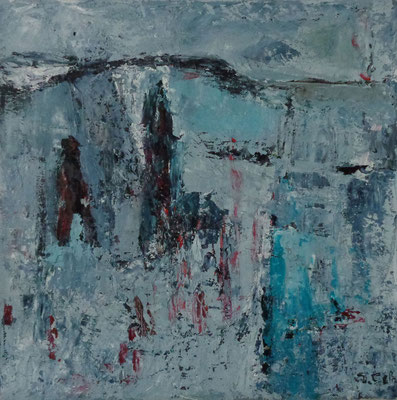 Wanderer, 2015, 30 x 30 cm, Öl auf Leinwand
