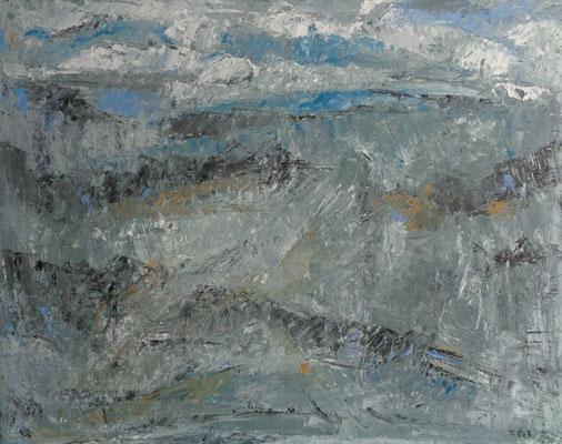Landschaft, 2017, 80 x 100 cm, Oel auf Leinwand