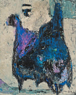 Vögel, 2015,  50 x 40 cm, Öl auf Hartfaserplatte