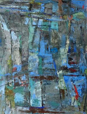 Abstrakt,  2015, 88 x 68 cm, Öl auf Karton