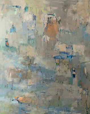 Landschaft, 2018, 100, 80 cm, Oel auf Leinwand