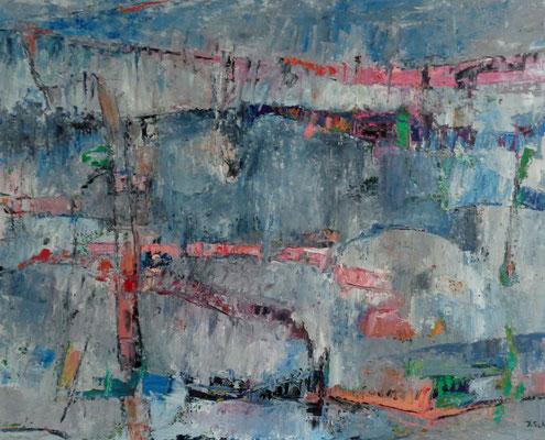 Abstrakt, 2016, 83 x 102,5 cm, Öl auf Leinwand