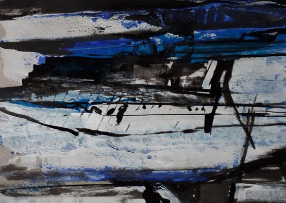 Ohne Titel, 2018, 11,5 x 16,3 cm,  Acryl auf Papier
